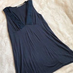 Kimchi Blue Deep V-Neck Sleeveless Tunic